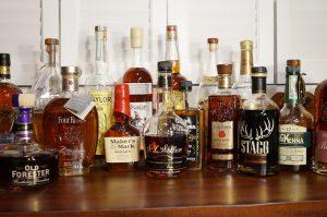 Bottles of bourbon